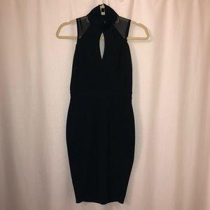 London Label TFNC Bodycon Sheer Back Black Dress